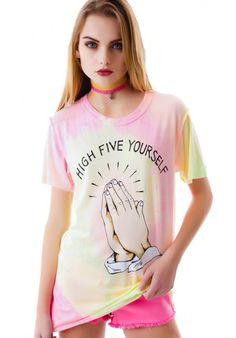 UNIF High Five Yourself Tee | Dolls Kill
