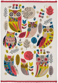 print & pattern: KITCHENWARE - m&s owls