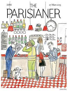 The New Yorker, New Yorker Covers, Magazine Illustration, Illustration Art, Illustrations, Capas New Yorker, Tjalf Sparnaay, Image Republic, Paris By Night
