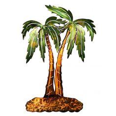 Palm Tree Metal Wall Sculpture