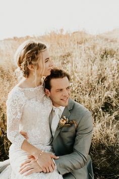 Boise Idaho Wedding bride and groom portrait | Emily Magers Photography