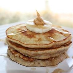 Banana and Peanut Butter Pancakes