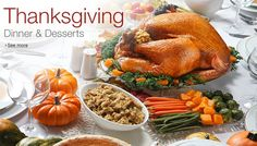 Shop Amazon - Thanksgiving Dinner and Desserts - Prepare the Perfect Feast here: http://amazon.com/?_encodinghttp:=UTF8&t=hhttpteamzw20 Prepare for Thanksgiving with our selection of foods for appetizers, potatoes & gravy, sides, and desserts.