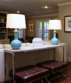Awesome console and Barcelona stools