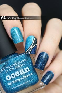 Cosmos, Ocean and Hope by Liloo #nails #nailart #picturepolish