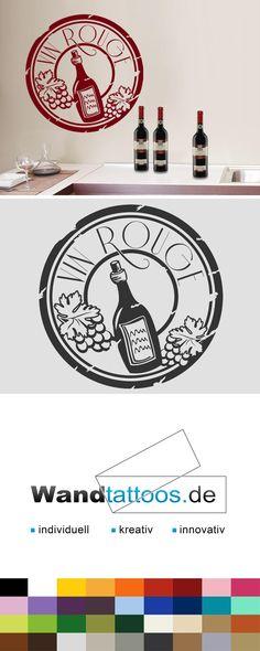 Wandtattoo Button Vin Rouge als Idee zur individuellen Wandgestaltung. Einfach Lieblingsfarbe und Größe auswählen. Weitere kreative Anregungen von Wandtattoos.de hier entdecken!