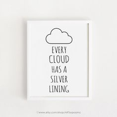 INSTANT DOWNLOAD / Every cloud has a silver lining by ARTsopoomc