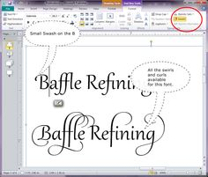 Microsoft Publisher 2010 With Stylistic Text When Available For A Font You Can
