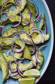Avocado and Red Onion Salad —this fresh, healthy, easy-to-make side salad would pair wonderfully with a variety of dishes, via @alejandraramos