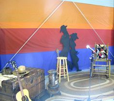 stage backdrop #cowboy #western #party