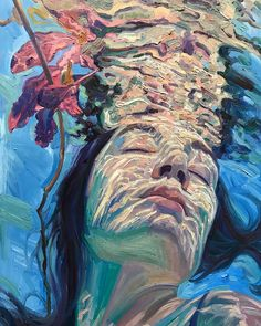 Underwater painting - These Stunning Underwater Paintings By Isabel Emrich Will Take Your Breath Away – Underwater painting Titanic Underwater, Underwater House, Underwater Theme, Underwater Painting, Underwater Tattoo, Underwater Flowers, Inspiration Artistique, Reflection Art, Art Watercolor