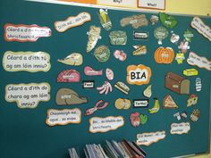 Bia display for Irish notice board Ireland Language, Irish Language, 6 Class, Class Games, Primary Teaching, Help Teaching, Infant Classroom, Classroom Displays, School Resources