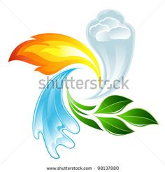 The four elements of life - stock photo
