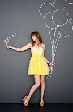 Photo by Shannon Greer – yellow dress. Photo by Shannon Greer – Chalk Photography, Creative Photography, Photography Poses, Chalkboard Photography, Chalk Photos, Draw On Photos, Tableaux Vivants, Sidewalk Chalk Art, Photo D Art