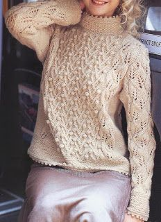 Free Knitting Patterns: Pullover with bobbles