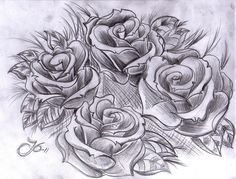 Rough sketch of roses. It's not finished, about 45 mins work.