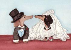 Dachshund Wedding