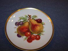 "Vintage Bavaria Mitterteich Germany decor 7 1/2"" Fruit Plate Gold Trim"