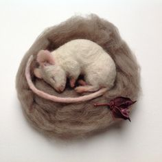 Item Overview  ~ Handmade felted mouse ~ 12cm long ~ Materials: Wool ~ Made to order ~ Ships worldwide from Lancaster, Lancashire  Item Details