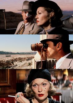 Chinatown (Roman Polanski, 1974). That's Jack Nickolson and Faye Dunaway