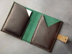 10 X Wholesale Joblot Genuine LEATHER Trifold WALLET CREDIT CARD HOLDER Brown