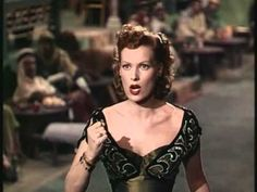 "Maureen O'Hara sings 3 songs in ""Bagdad."" She studied opera, obviously."