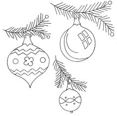 Christmas ornaments - embroidery pattern