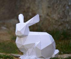 Make your Bunny sculpture. Visit our Etsy shop. Www.etsy.com/shop/plainpapyrus
