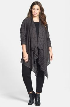 Eileen Fisher Cardigan, Top & Slim Pants (Plus Size)  available at #Nordstrom