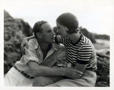 Norma Shearer & Leslie Howard in A Free Soul (1931)