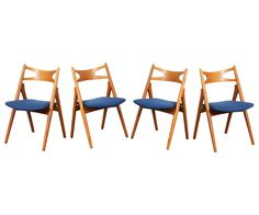 "Hans J. Wegner CH-29 ""Sawbuck"" Dining Chairs for Carl Hansen"