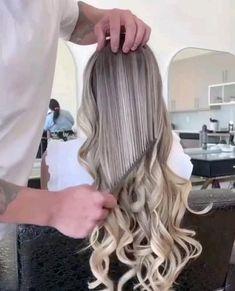 Red Brunette Hair, Blonde Hair Looks, Blonde Hair With Highlights, Brown Blonde Hair, Blonde Balayage, Honey Balayage, Brunette Color, Red Highlights, Brown Balayage