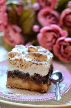 Romanian Desserts, Romanian Food, Something Sweet, Great Recipes, Cake Recipes, Sweet Treats, Cheesecake, Deserts, Good Food