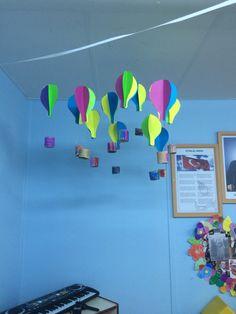 Okul öncesi sanat etkinliği hava balonu