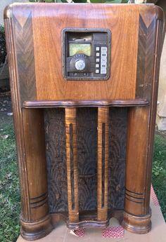 Vintage Zenith Wood Floor Tube Wavemagnet Automatic Radio 6-P457 1940s | eBay
