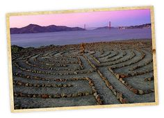 Hike Lands End Labyrinth, San Francisco by weekendsherpa: Created by Eduardo Aguilera in 2004, the labyrinth feels like it has been part of the landscape for centuries. It's the perfect setting for a solstice stroll...Image by Jim Goldstein. #Park #Labyrinth #San_Francisco