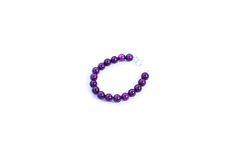 Image of Deep Lilac 6mm Bracelet. Poppy Lane and co. Handmade baby bracelets, baby bracelets, bracelet, bracelets.