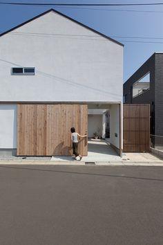 アトリエのある家 | ソラマド写真集 Minimal House Design, Small House Design, Minimal Home, Japan House Design, Detail Architecture, Minimal Architecture, Interior Architecture, Small Japanese House, Japanese Style House