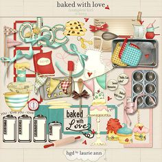 Baked With Love {complete kit} by hgd by Laurie Ann @ TLP, as I wrote before I love to bake and I would love to scrap about this hobby of mine