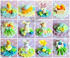Easter Cupcakes Toppers