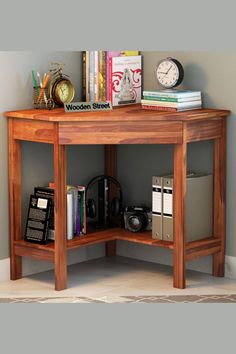 The need for a spacious study table is met at the core with Eldor study table. This corner aligned study unit is gifted with ample storage. Made from Sheesham wood, it sticks well with the durability. #studytable #furniture #moderndesign