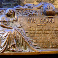 Tumba de Evita Perón. Recoleta, Argentina