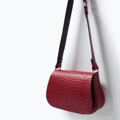 ZARA - WOMAN - LEATHER MESSENGER BAG
