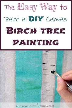 Wanting to create a beautiful canvas birch tree painting? Try this easy acrylic painting technique for painting birch trees on canvas. It's not as hard as it looks to create DIY home decor and canvas paintings. Kids Painting Projects, Diy Painting, Canvas Paintings, Tree Paintings, Diy Home Accessories, Diy Home Repair, Diy House Projects, Diy Canvas, Do It Yourself Home