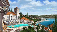 Luštica Bay | Radovici Montenegro | EDSA #sketch #concept #landscape #handsketch