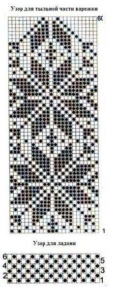 Фотография Knitted Mittens Pattern, Knit Mittens, Mitten Gloves, Knitting Charts, Knitting Patterns, Craft Patterns, Knitting Needles, Beading Patterns, Lana