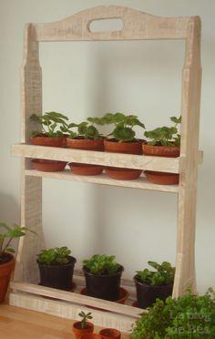1000 id es sur palette de jardin d 39 herbes aromatiques sur for Etagere pour plantes d interieur