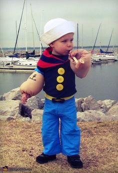 Popeye - ich lach mich kaputt! Damit ist Dein Kind garantiert im Mittelpunkt der Veranstaltung. Znd warme Arme gibts dabei auch!