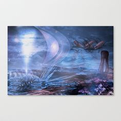 City of Icicles Stretched Canvas by Thomas Majevsky - $85.00