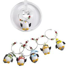 Penguin Wine Charms